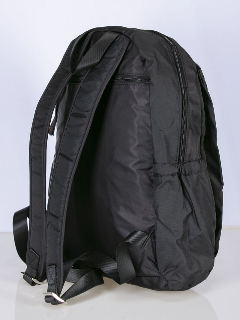 Black exterior backpack.