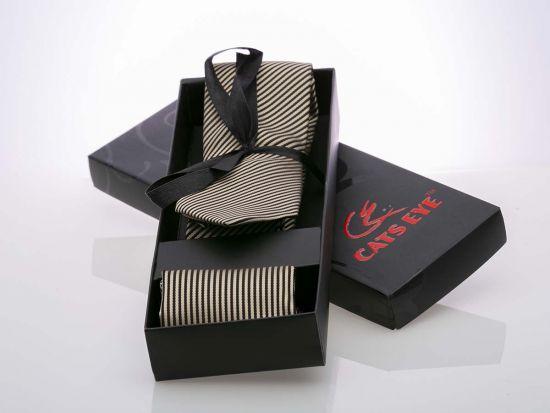 Jacquard silk Stripe Tie