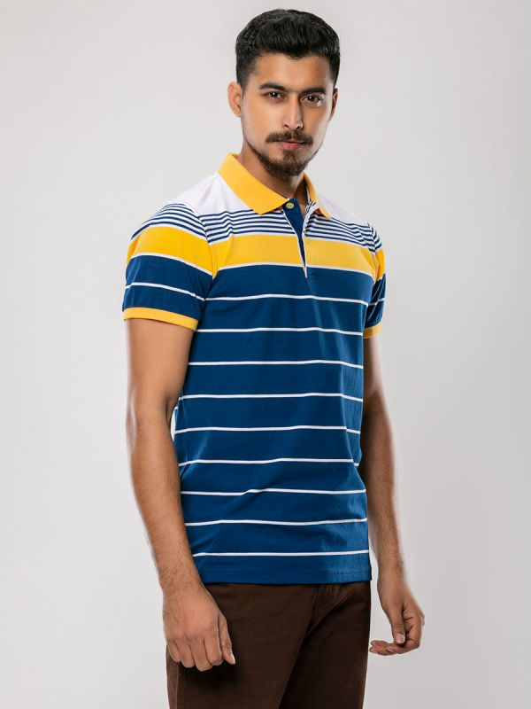 Stripe Polo T-Shirt