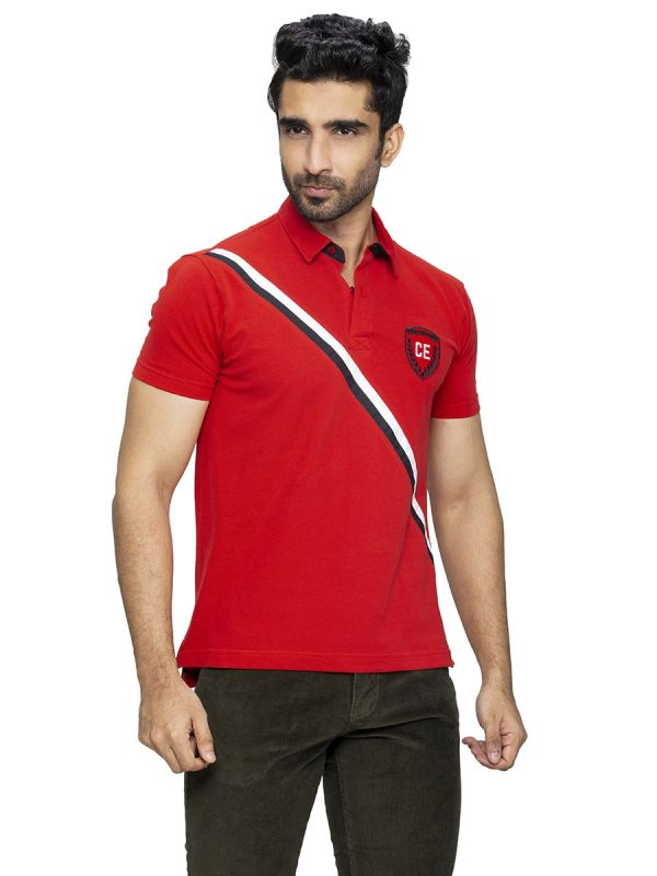 Red Colour Polo T Shirt