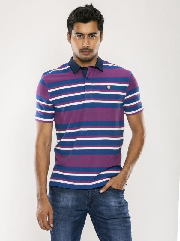 Stripe Polo T Shirt