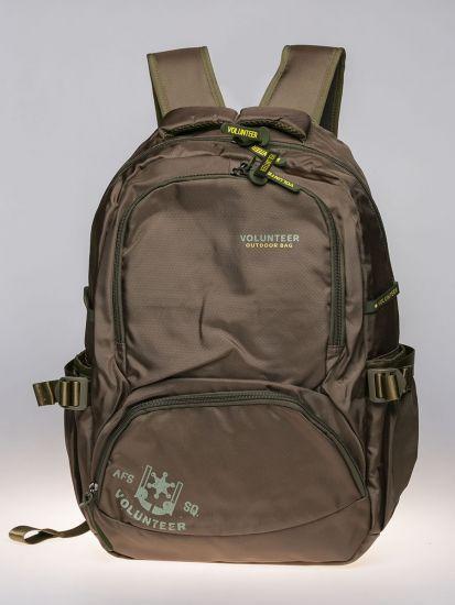 Khaki Exterior Backpack.
