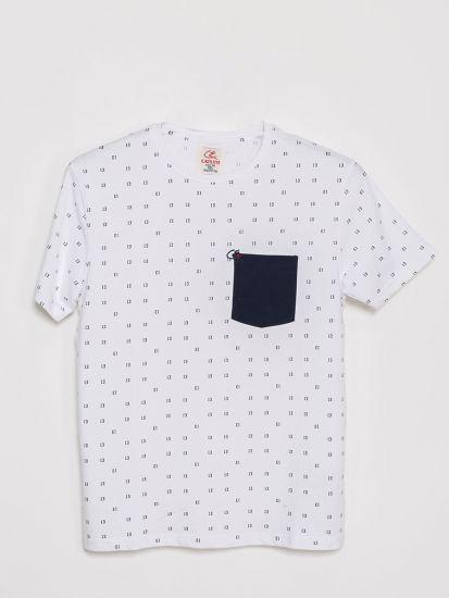 Printed Round Neck T Shirt
